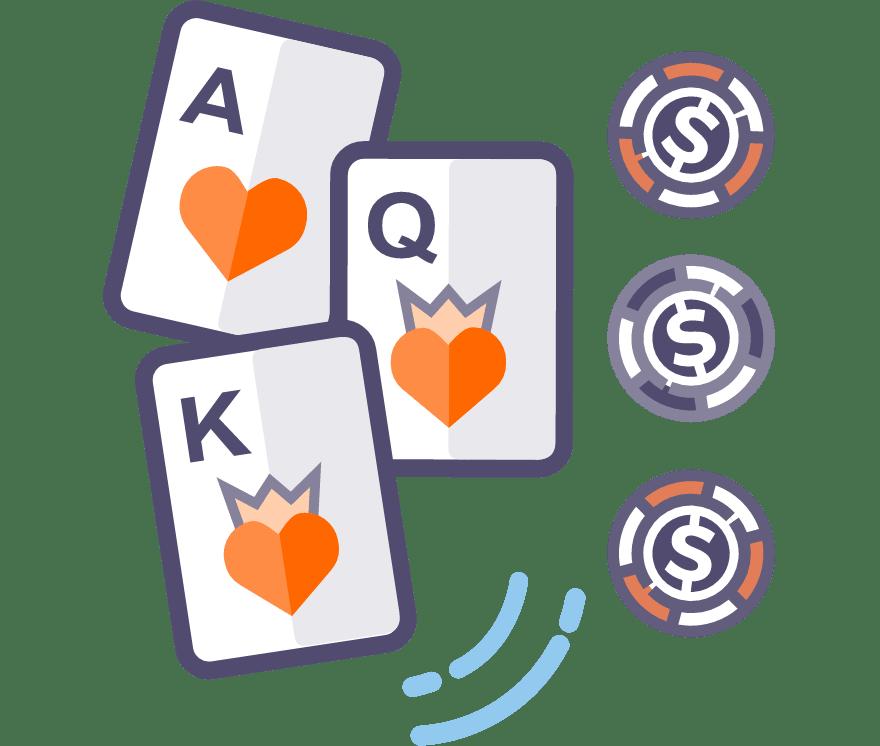 Hrajte Three Card Poker online – Top  najlepšie platiacich Mobilné Kasíno 2021